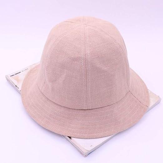 Sombrero de Pescador de algodón y Lino para Mujer, Gorra para el ...
