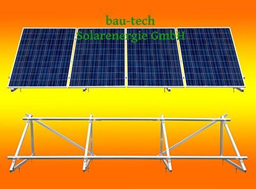 PV Solar Unterkonstruktion Aufständerung für 4 Module von bau-tech Solarenergie GmbH