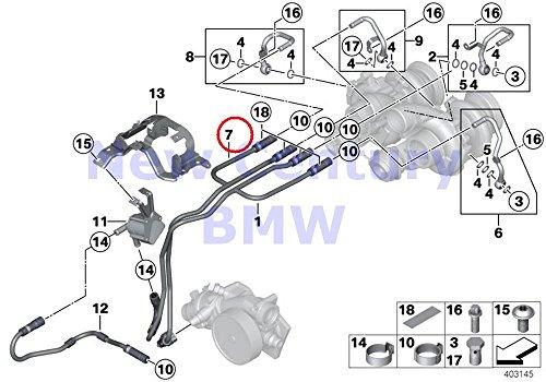 Genuine Bmw Cooling (BMW Genuine Cooling-System Turbocharger Return Pipe M6 M6 M5 M6 M6 M6 M6)