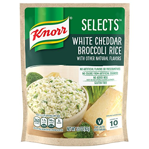 Knorr Selects Rice Side Dish, White Cheddar Broccoli, 5.9 oz (Pack of 8)