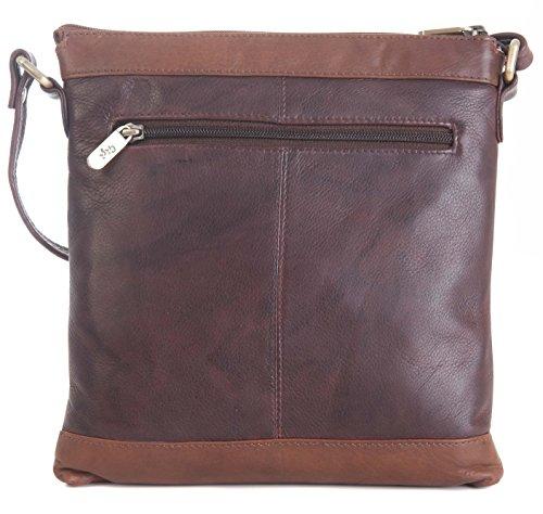 GIGI Othello pelle morbida 3 tonalità a tracolla borsa borsa VENDITORE 8529 marrone scuro / medio marrone / OSSA Venta Barata Precio Más Barato vclsw8V9
