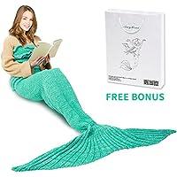 Mermaid Tail Blanket, AmyHomie Mermaid Blanket 74in Adult...