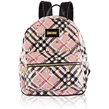 Betsey Johnson Womens Heart Lock Backpack