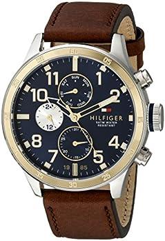 Tommy Hilfiger Men's Brown Leather Strap Watch