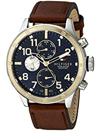 Men's 1791137 Cool Sport Two-Tone Stainless Steel Watch with Leather Band