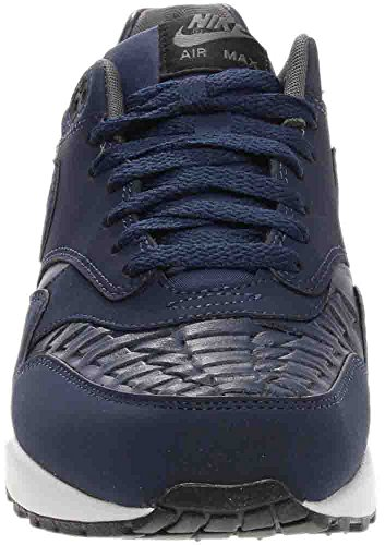 Nike Air Max 1 Geweven Heren Schoenen Midnight Navy / Zwart 725232-400