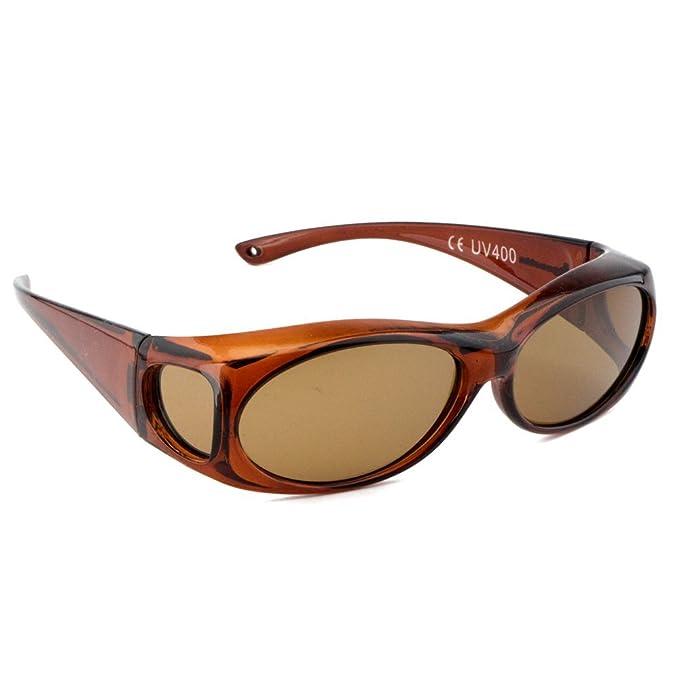 Figuretta GAFAS DE SOL encima de otras gafas – superpuestas | COLORES MÚLTIPLES | UVA & UVB 400 protección | Polarizadas