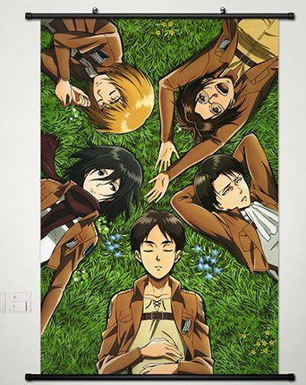 Wall Scroll Poster Fabric Painting For Anime Attack on Titan