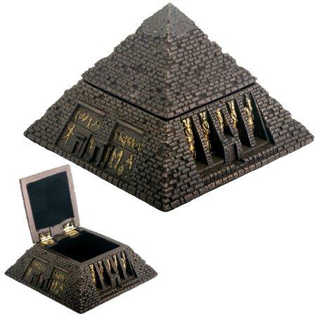 Pyramid Trinket Box - Egyptian Small Bronze Pyramid Trinket Box Egypt Jewelry Container