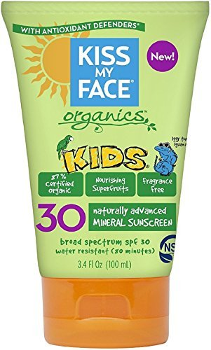 Kiss My Face Kids Mineral Sunscreen SPF 30, Fragrance Free 3.4 oz (Pack of 12) by Kiss My Face
