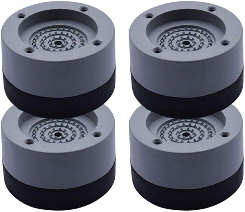 Amortiguador de Vibraciones para Lavadoras Queta 4pcs Universal Arandelas Antivibraciones para Lavadora y Secadora, Soporte de Goma Antivibración de Bajo Ruido (gris, 4 cm)
