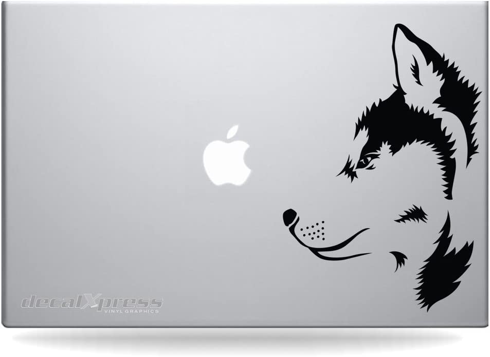 Husky Dog- Decal Sticker for MacBook, Air, Pro All Models