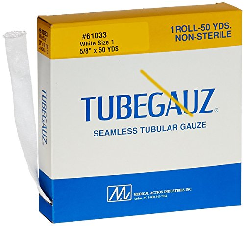 Medical Action Industries 61033 Tubegauz  5 8 Width  Size 1  White  Pack Of 10