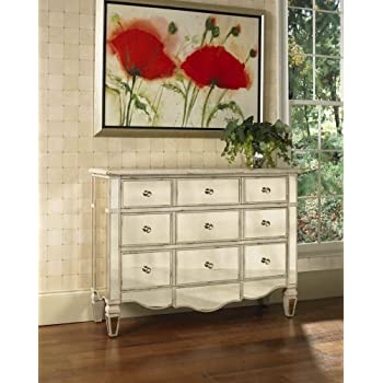 pulaski veronica mirrored accent chest 46 by 15 by 34inch silver - Accent Chests