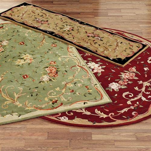 Kas Oriental Rugs Inc Floral Scroll Rectangle Rug ()