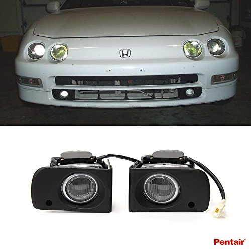 Aftermarket Car Body Kits (VioGi 2pcs Aftermarket JDM Clear Lens Fog Lights Kit With Light Bulbs+Cover+Switch+Wiring Harness+Relay+Bracket & Necessary Mounting Hardware For 1994-2001 Acura Integra)