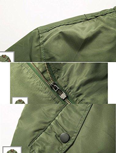 Uomo epais Cappotto vert Matchlife Armée Giacca Style3 OqpxUE