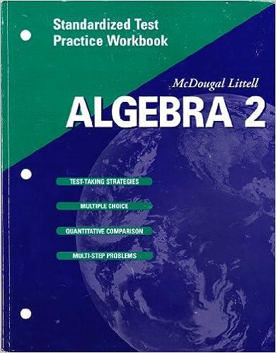 Book McDougal Littell High School Math: Standardized Test Practice Workbook (Student Edition) Algebra 2