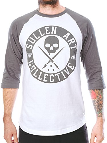 Sullen Men's Boh Cypress Raglan LS T Shirt White