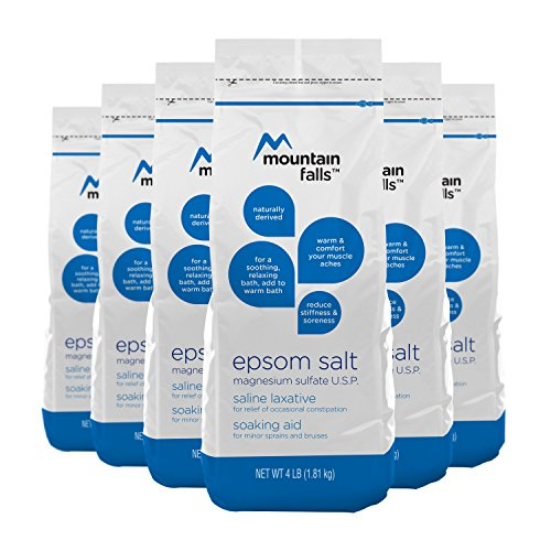 Mountain Falls Epsom Salt Magnesium Sulfate, 4 Pound (Pack of 6)