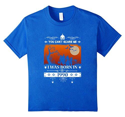 1990's Halloween Costume Idea (Kids Made in 1990 - 27 Birthday - Halloween T-shirt 10 Royal Blue)