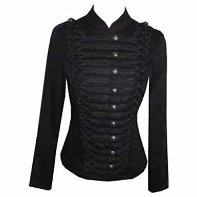 7c2a7bd73d84f Victorian Black Gothic Military SteamPunk Indie Jacket Coat