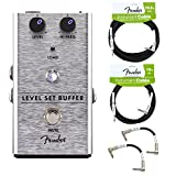 Fender Level Set Buffer Guitar Pedal with Cables (Deluxe Bundle)