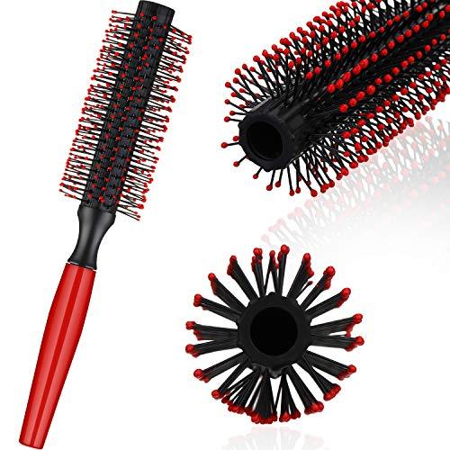 Rodillo Redondo de Copete Cepillo de Pelo de Hombres Peine del Quiff Cepillo de Peinado Redondo para Herramienta de Peinar Cabello con Secador