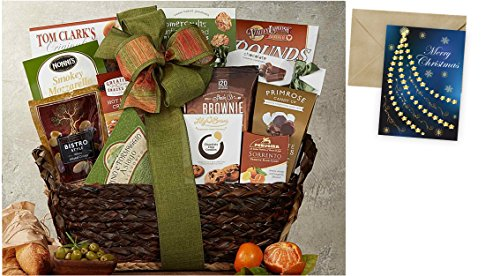 Gourmet Choice Gift Basket for Christmas and personalized card mailed seperately, CD30209