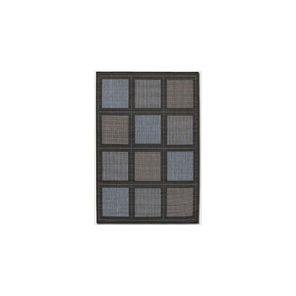 59 x 92 Summit Blue Black Indoor/Outdoor Area Rug