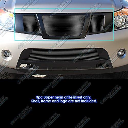 - Fits 2008-2015 Nissan Armada Black Upper Billet Grille Insert #N66521H
