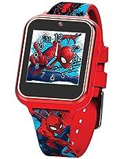 Accutime SPD4588 Spider-Man, dziecięcy zegarek z kamerą do selfie, fotografią i wideo, stoper, 6 gier, 3 tła, 10 cyferblatów, dyktafon, Fitness Tracker zegarek, budzik, czerwony