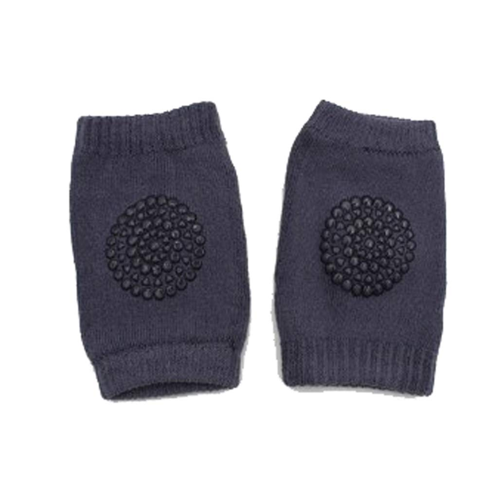 Wonderful Safety Crawling Elbow Cushion with Dark Grey Leg Warmers Knee Support Protector 1 Pair