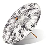 Lily-Lark Ink Wash Flowers UV protection sun parasol, rated UPF 50+