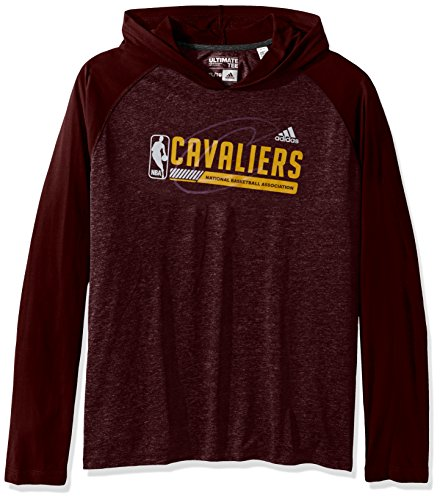 NBA Cleveland Cavaliers Adult Men Fast Break Climate Ultimate L/S Hood, Medium, Maroon
