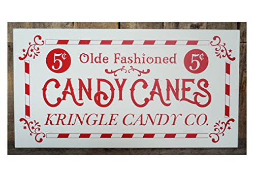 Susie85Electra Olde Fashioned Candy Canes Kringle Candy Co Wood Sign Candy Canes Kris Kringle Kringle Candy Company Santa Santa Claus Candy
