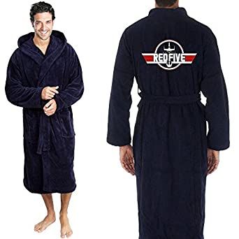 4f54f441c4 Star and Stripes Inspired RED Five X Wing Top Gun Fighter Jet Terry Towel  Bathrobe L