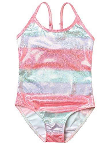 Girl Swimsuit Bathing Suits Unicorn One Piece Teen Kid Rainbow Swimwear ()