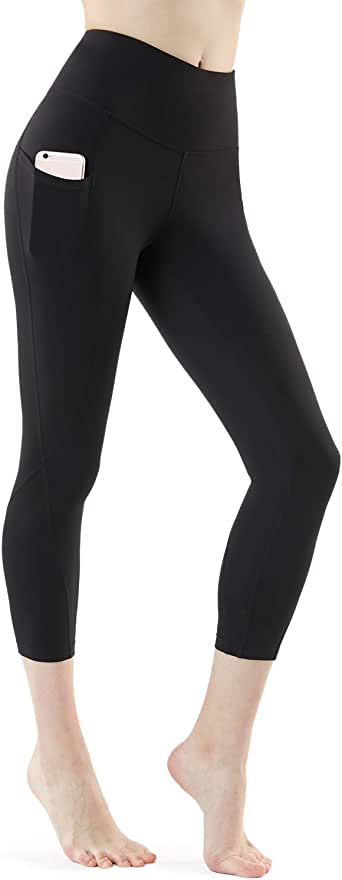 Tesla Yoga Pants 17Inches/21 Inches Capri High Waist Tummy Control w Pocket