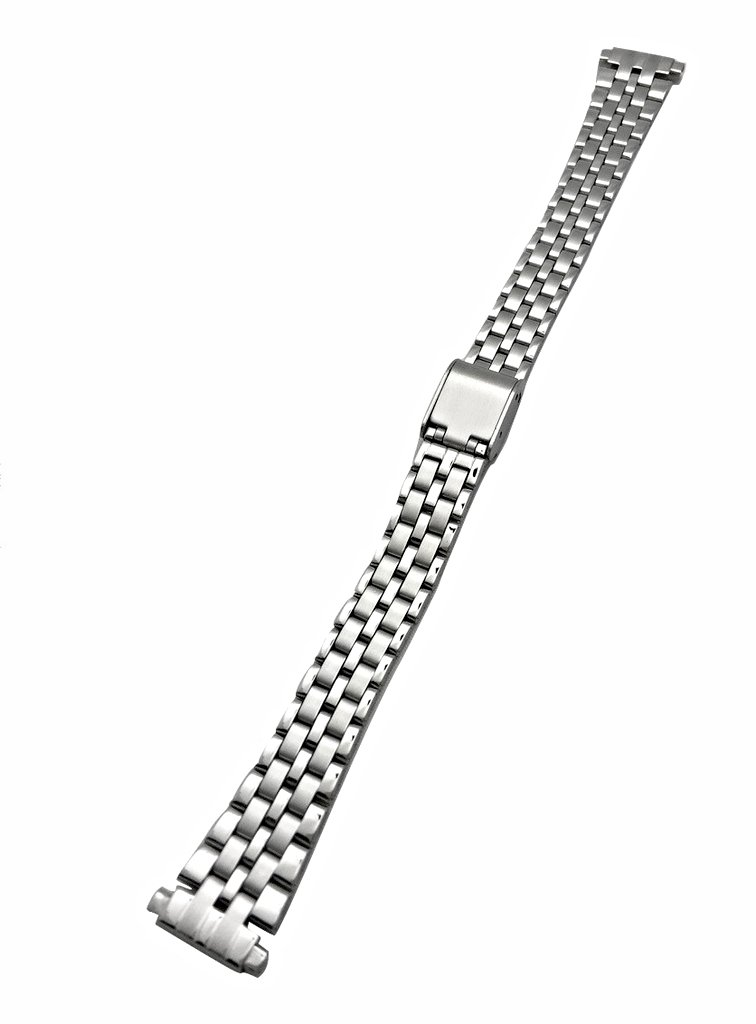 12-16mm Metal Stainless Steel Watch Band by NewLife | Women's Watches Silver Tone Watch Bracelet Replacement Strap with Clasp
