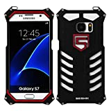 Galaxy S7 Case ,Samsung Galaxy S7 Metal Case, Aluminum Metal Alloy Bumper [Shockproof Dropproof Dirtyproof] Metal Frame Outdoor Sports Strong Protective Back Cover Case for Galaxy S7 - Black