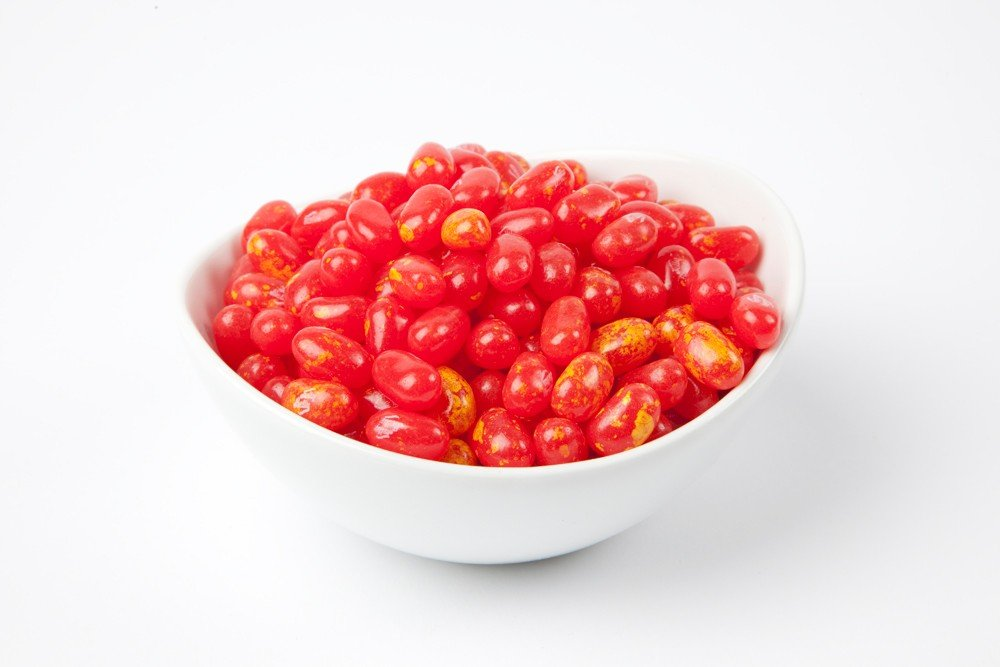 Jelly Belly Sizzling Cinnamon Jelly Beans (10 Pound Case) - Red by Jelly Belly