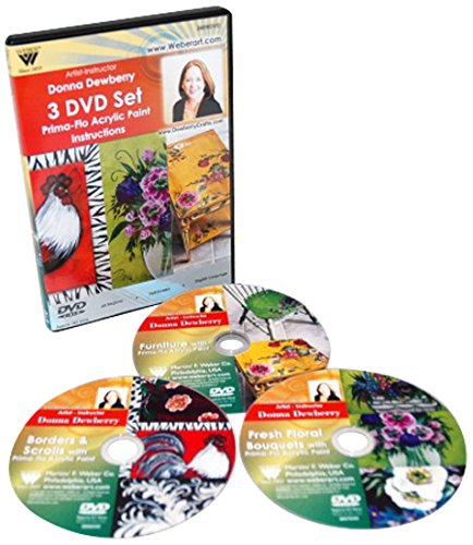 Acrylic Painting Dvd - Weber Dewberry 3 Disc Set Prima-Flo Acrylic DVD