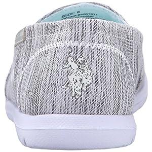 U.S. Polo Assn.(Women's) Women's Priscila9 Boat Shoe, Grey Knit/Aqua, 7 M US