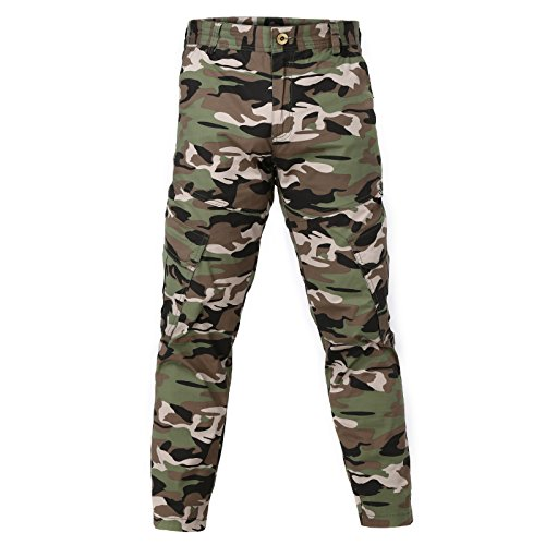 MEXUER Men`s Pants Camouflage Cargo Loose Tactical Work Trousers Pants for Men by MEXUER