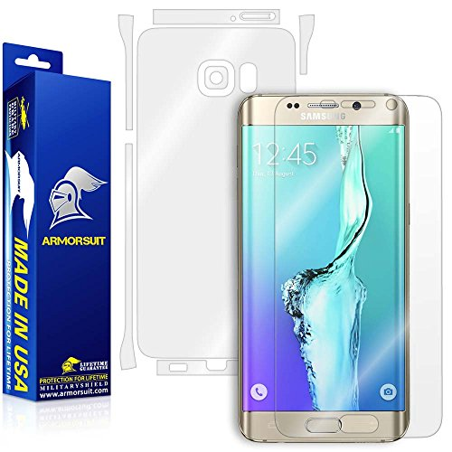 ArmorSuit MilitaryShield Anti-Bubble Screen Protector + Full Body Skin Protector for Samsung Galaxy S6 Edge Plus by ArmorSuit
