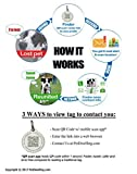 PetDwelling 2D Red Heart QR Code Pet ID Tag Links