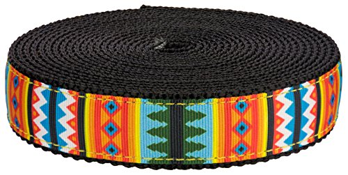 country-brook-designa-3-4-inch-summer-pines-on-black-nylon-webbing-5-yards