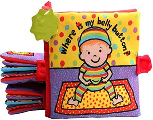 Where Is My Belly Button Soft Book Fabric Book Pre-School Book