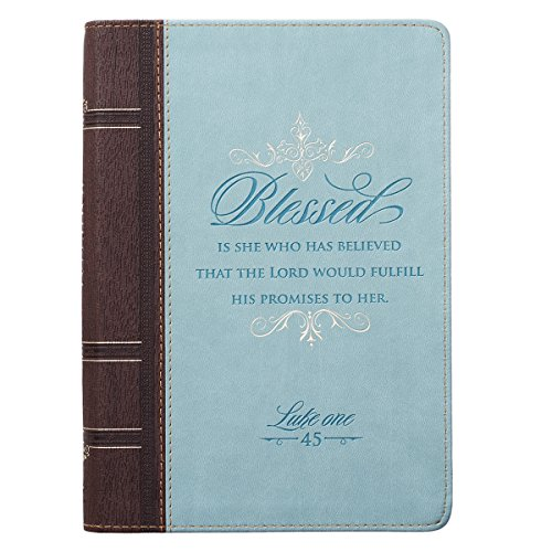 Blessed Zippered Classic LuxLeather Journal - Luke 1:45 (Womens Zipper Designs Line)
